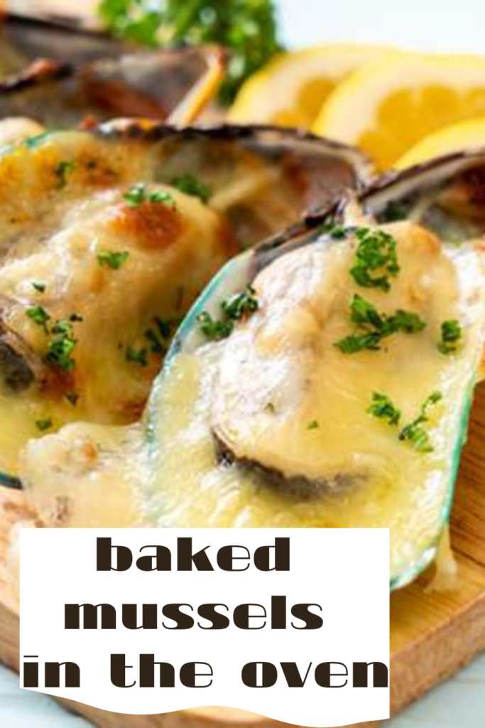 Baked mussels in the oven